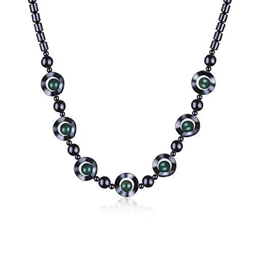 0 45 cm Naturstein Damen Halskette
