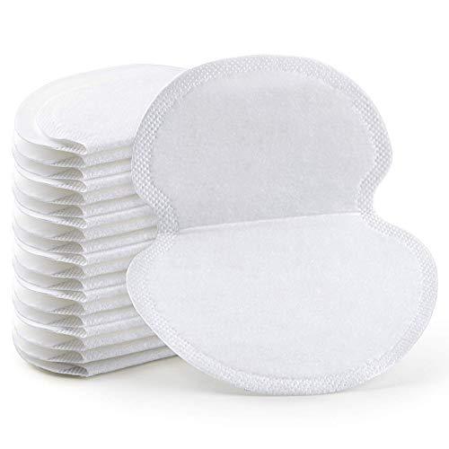 Xiaomin 100 peças de almofadas grandes para axilas para homens e mulheres luta contra hiperidrose, almofadas de transpiração de axila confortáveis sem sabor, não visível, adesivo extra, descartável, proteção de axila livre de suor