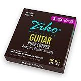 2 Juegos de cuerdas ZIKO DR-011 para Guitarra Acústica Calibre 011-050 Cobre...