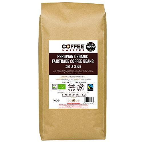 Coffee Masters Peruvian, Organic, Fairtrade, Coffee Beans - Great Taste Award Winner 2018