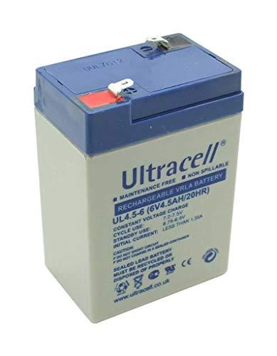 Ultracell UL4.5-6 identieke loodgel accu Hawker Enersys Genesis AGM NP4-6 6V 4Ah loodzuur Q-Power QP6-4 QP6-5 QP6-3 QP6-3.2 QP6-4.5 QP6-4.2 AGM technologie batterij Bateria batterij