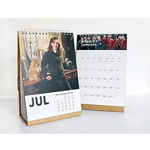 LZL 8x6in Desk Calendar Small Girl Desk Calendar 2021 Personajes Desk Calendar Divertido Permanear el Calendario mensual (Color : Double-Sided Printing)