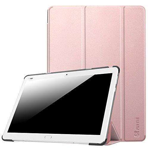 Fintie Huawei Mediapad M3 Lite 10 Hülle - Ultra Dünn Superleicht SlimShell Case Cover Schutzhülle Etui Tasche mit Zwei Einstellbarem Standfunktion für Huawei Mediapad M3 Lite 10 Zoll, Roségold