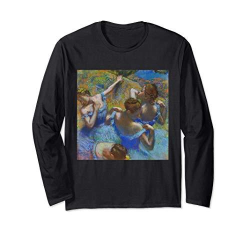 Bailarina de Edgar Degas en azul | impresionismo del ballet Manga Larga