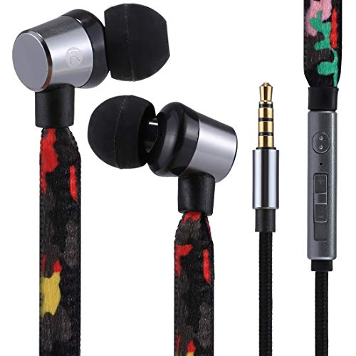 Wired Earphone Portable In-Ear Bass Stereo Wired The Lion Fashion Earphones With Mic, For IPhone, IPad, Galaxy, Huawei, Xiaomi, LG, HTC And Other Smartphones ZhenZhiYangShangMao (Color : Color6)
