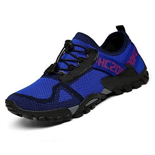 ABAO Hiking Shoes Men Women Outdoor Sports Shoes Non-Slip Breathable Sneakers Low Top Walking Shoes for Outdoor Trailing Trekking Walking Climbing Travel Lightweight Blue 5.5 Women/4 Men