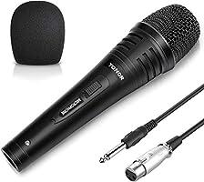 TONOR Dynamische karaokemicrofoon voor zingen met 5,0 m XLR-kabel, metalen handmicrofoon compatibel met karaokemachine / ...