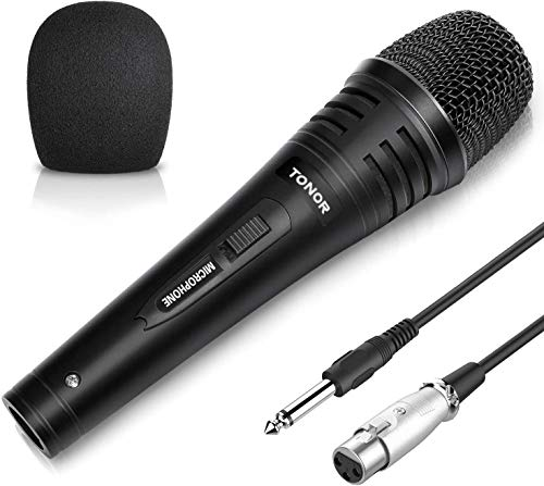 TONOR Dynamic Karaoke Microphone for Singing with 5.0m XLR Cable, Metal Handheld Mic Compatible with...