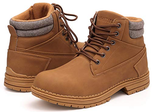 WHITIN Men's Mid Soft Toe Leather Insulated Work Boots Construction...