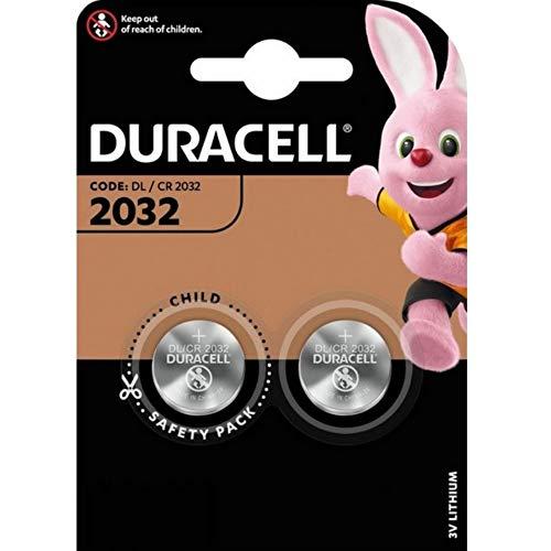 Duracell DL2032, 75072668, Batteria al litio per fotocamere, calcolatrici e cercapersone, 3 V, confezione da 2
