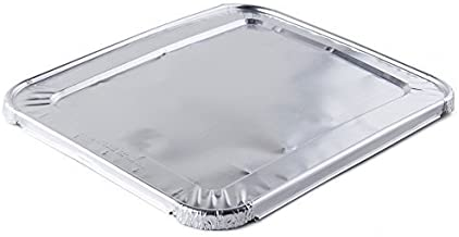 A World Of Deals Aluminum Foil Lids for Steam Table, Fits Half-Size Pans, 1 Bags of 30