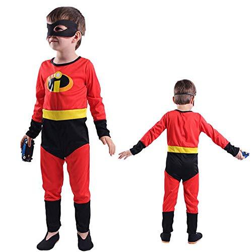 SSRSHDZW Disfraz de Cosplay de Equipo de Agente de Superman para nio de Halloween, Traje de actuacin de Vacaciones, mscara de Carnaval, Disfraz de Juego de rol,M