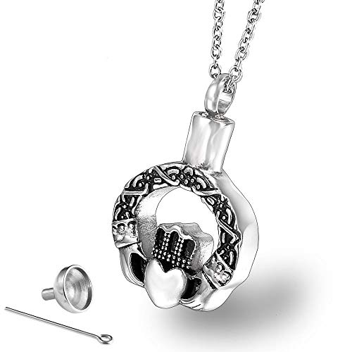 VVHN Urna Cremación Colgante Collar De Botella De Perfume De Producto De...