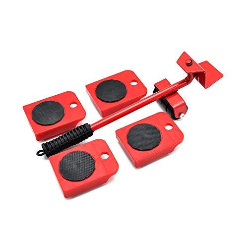 Sollevatore per mobili con 4 dispositivi di scorrimento, set di rulli per mobili e attrezzi pesanti, capacità fino a un massimo di 150 kg, cuscinetti girevoli a 360 gradi