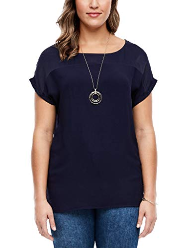 TRIANGLE Damen 301.10.003.10.100.2035942 Bluse, Navy, 46