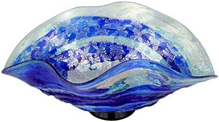 Centro de mesa Sbruffi Deep Ocean Blue - Centro de mesa de cristal de Murano