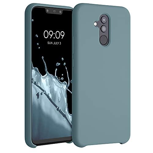 kwmobile Hülle kompatibel mit Huawei Mate 20 Lite - Hülle Silikon gummiert - Handyhülle - Handy Hülle in Arctic Blue