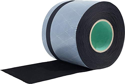greenteQ - Selbstklebende EPDM Folie - 100-300 mm x 8 mm 8 Meter, Bandbreite:150 x 0.8 mm