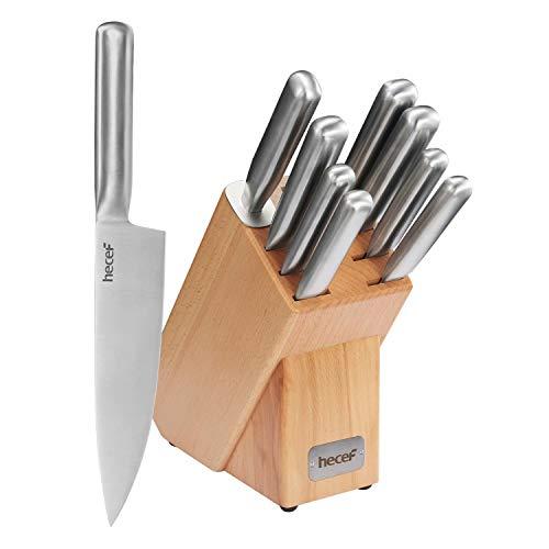 hecef Set de cuchillo, juego de cuchillos de cocina de 10 pi