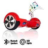 ACBK - Patinete Eléctrico Hover Autoequilibrio con Ruedas de 6.5' (Altavoces Bluetooth + Luces Led integradas)...