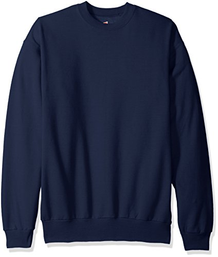Hanes Men's Ecosmart Fleece Sweatshirt, Navy, Large