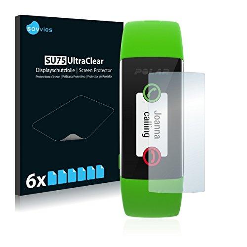6X Savvies SU75 UltraClear Bildschirmschutz Schutzfolie für Polar A360 (ultraklar, mühelosanzubringen)