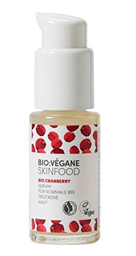 BIO:VÉGANE SKINFOOD Bio Cranberry - Serum für normale bis trockene Haut, vegan, NATRUE-zertifiziert, feuchtigkeitsbindend, für feuchtigkeitsarme Haut, 1er Pack (1 x 30 ml)