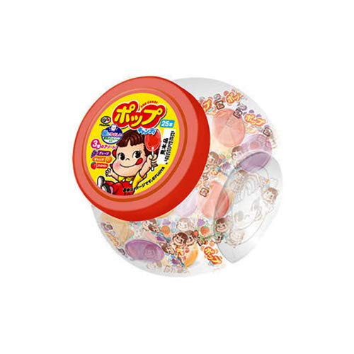 不二家 ペコちゃん容器入りポップキャンディ 25本