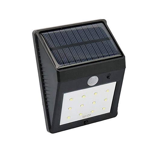 Buitenverlichting op zonne-energie, 12 leds, superheldere zonnelamp voor in de tuin, veiligheidswandlamp, wandlamp, 800 mAh, waterdicht, IP65 waterdicht, veilig, wandlicht