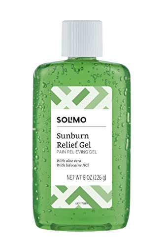 Amazon Brand  Solimo Sunburn Relief Gel with Aloe Vera 8 Fluid Ounce