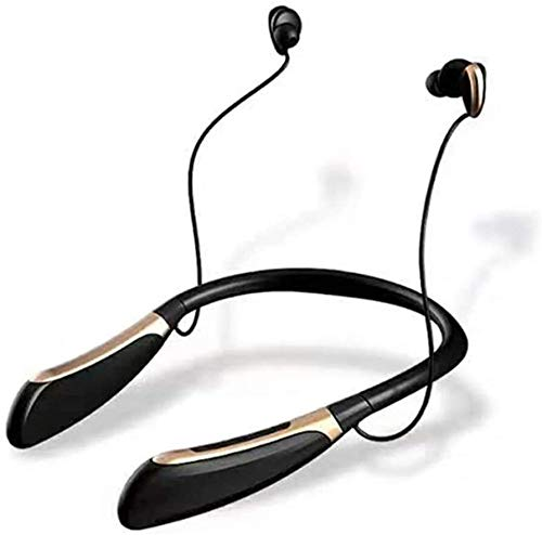 PandaG Auriculares Ligeros inalámbrica Bluetooth Auricular cancelación de Ruido de Alta fidelidad Auriculares estéreo Gimnasio magnética HD Incorporado micrófono del Auricular vincha Trotar Continua