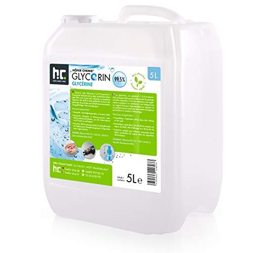 5 L Glycerin 99,5% - Lebensmittelqualität - rein pflanzlich Glyzerin Glycerol E422