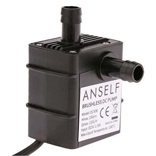 Decdeal Wasserpumpe Teichpumpe USB für Brunnen Aquarium und Modellbau 220L / H Auftrieb 250cm DC5V