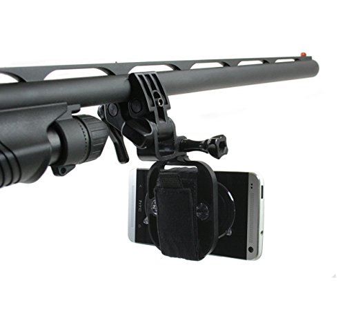 Action Mount - Multi-Purpose Sportsman's Mount for Any Smartphone: Attaches to Fishing Rod, Bow, Shotgun, Rifle, Paintball etc. Strongest Hold on The Market. Use Any Device You Own, or Sport Camera.