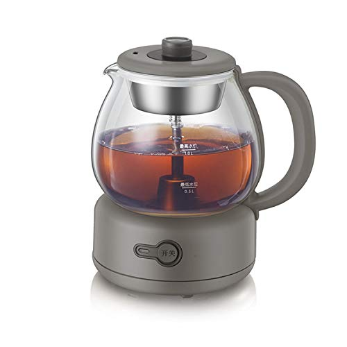 Teekocher Elektrisch 2 in 1-Tee-und Wasserkocher 1L Automatic Tea Maker Glas 600 W Teekoche Teekocher Elektrisch Klein Glaskanne, BPA-frei mit Permanent Edelstahl-Teefilter