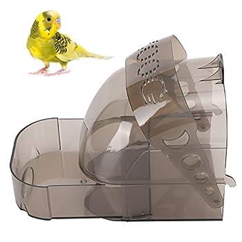 Salaty Accessoire de Baignoire perroquets en Plastique épaissir Le Bain d'oiseaux, boîte d'alimentation Multifonction, pour perroquets perruches Canaries Petits Oiseaux