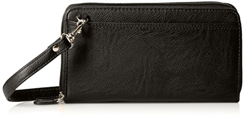 Buxton The Ultimate Double Zip Organizer, Black