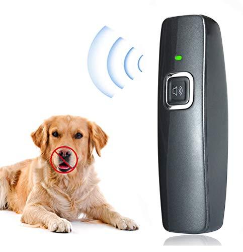 CYWEB Anti-Bellen-Gerät, Ultraschall-Hundebellen Hunderkontrolle für den Innen- und Außenbereich Anti Bellen Stop Rinde Handheld Hunde Trainingsgerät für Hunde 100{218ec6c31fe36adc38ec9a956ef756f95a2c1883fcb9f4927f716b239bdabd2f} sanft & sicher
