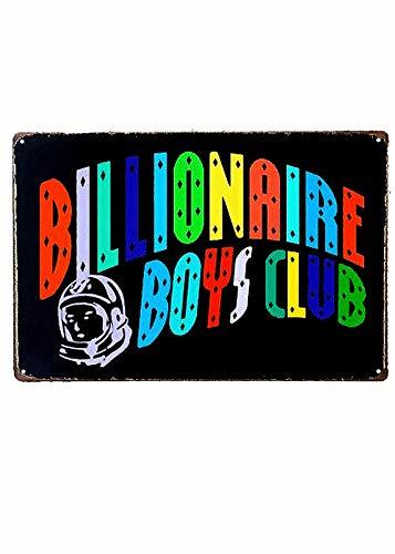 Vintage Tin Poster Billionaire Boys Club Rust Metal Tin Sign...