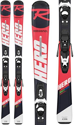 Rossignol Hero Jr 100-130 Kid-x 4 B76 BL Skis Enfants, Fille, RRH02JY, Rouge/Noir, 120 cm