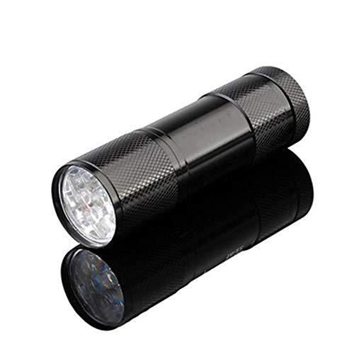 Luwu-Store Taschenlampe Licht 395nm Ultra 9 D LE UV violett Licht Blacklight UV Lampe Taschenlampe AAA Batterie für Marker Checker Erkennung