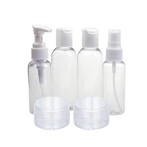 hahuha Makeups 🎅 Schönheitsprodukte ,Neue tragbare transparente Reisekosmetik-Flasche mit sechs Sets