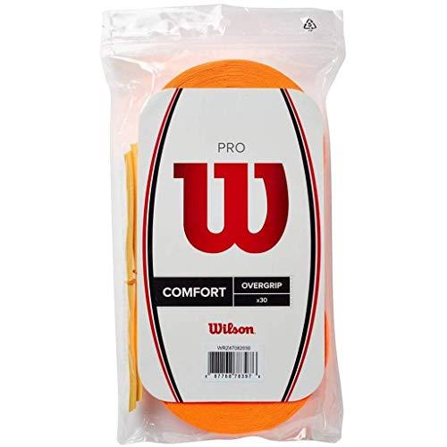 Wilson Pro Overgrip Comfort 30 Pack - Burn Orange - for All Racquet Sports