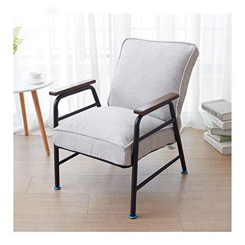 LINGZE Silla reclinable Ajustable de la Sala de Estar, sillón Gris del Dormitorio del Vintage Sola Silla del sofá