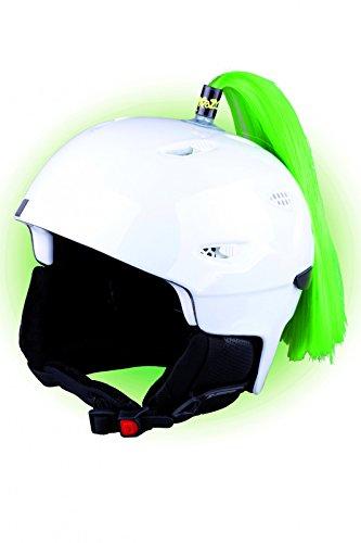 Crazy Ears Helm-Accessoires Zöpfe. Ski-Ohren geeignet für Skihelm Motorradhelm Fahrradhelm und vieles mehr. Helm Dekoration für Kinder und Erwachsene, CrazyEars:Zopf Grün