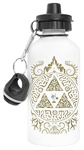 princesa de los Salvaje Aluminio Reutilizable Deporte Viaje Botella de Agua Blanco Aluminium Reusable Sport Travel Water Bottle White