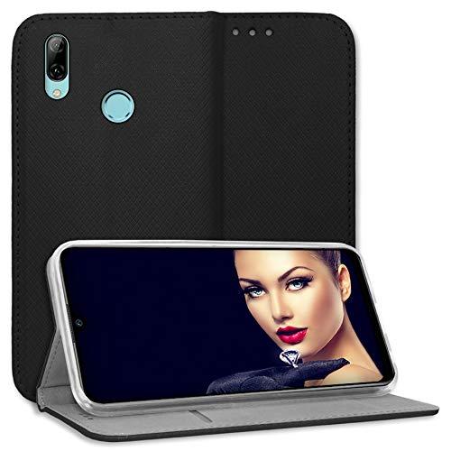 mtb more energy® Schutz-Tasche Bookstyle für LG Q Stylus+ (LM-Q710, 6.2'') - schwarz - Kunstleder - Klapp-Cover Hülle Wallet Hülle