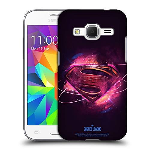 Head Case Designs Licenza Ufficiale Justice League Movie Superman 2 Logos Cover Dura per Parte Posteriore Compatibile con Samsung Galaxy Core Prime