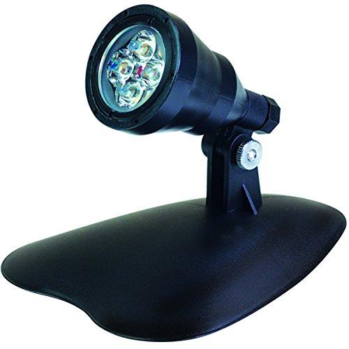 GEV tuinlamp, spot, 4 W, vijverlamp, lichtsysteem, app-gestuurd, lamp Flora, buitenlamp, UV-bestendig kunststof, zwart, 5,4 x 5,4 x 8,8 cm