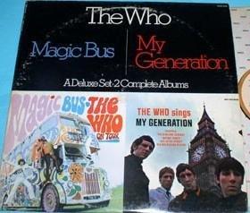 The Who  Magic Bus  My Generation  A Deluxe Set - 2 Complete Albums  Double Vinyl Lp s  Pop Rock   1980